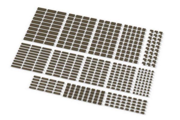 Small Plates, mixed, Dark Tan