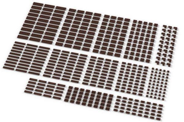 Small Plates, mixed, Reddish Brown
