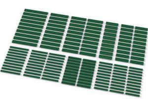 Long Plates, mixed, Green