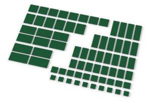 Big Plates, mixed, Green