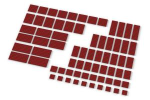 Big Plates, mixed, Red