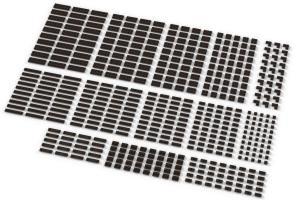 Kleine Plates, gemischt, dunkelbraun (Dark Brown)