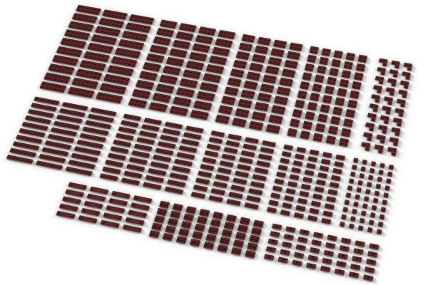 Small Plates, mixed, Dark Red