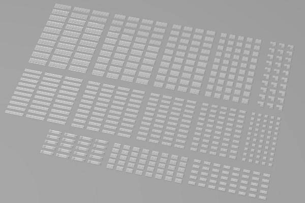 Kleine Plates, gemischt, transparent (Trans Clear)