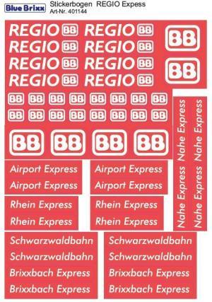 Stickerbogen REGIO Express