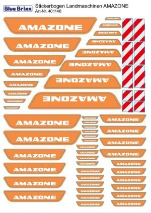 sticker sheet AMAZONE agricultural machinery