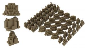 40 pcs Rock set, Dark Tan