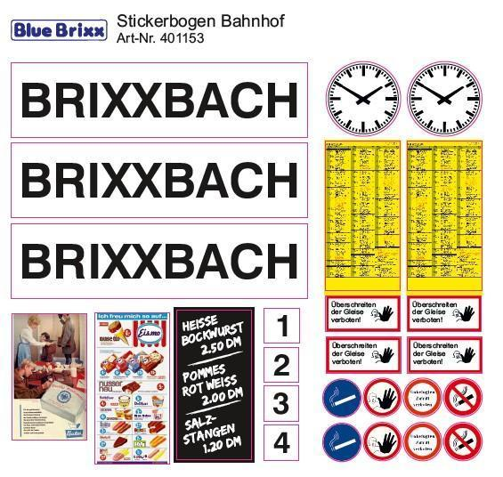 Sticker sheet Train Station