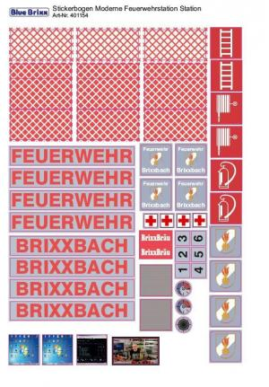 Sticker sheet Modern Fire Station