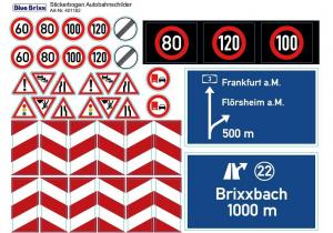 sticker sheet Highway signs