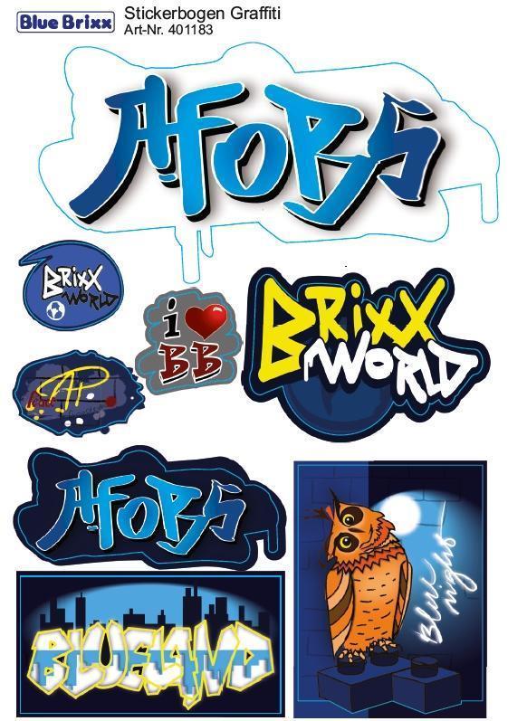 sticker sheet Graffiti