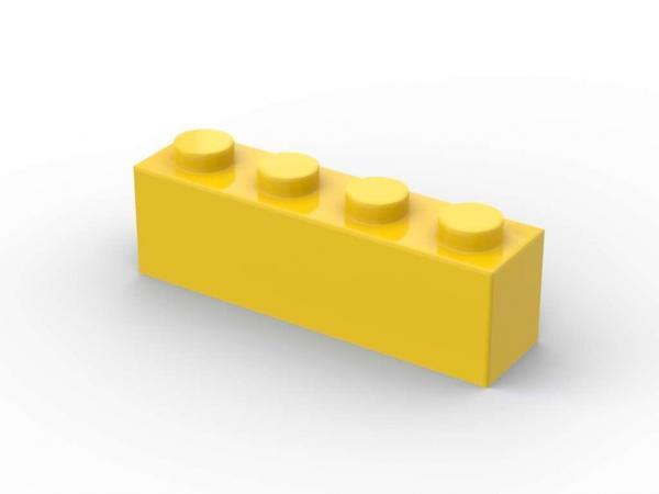 500 pcs 1x4 brick, Yellow