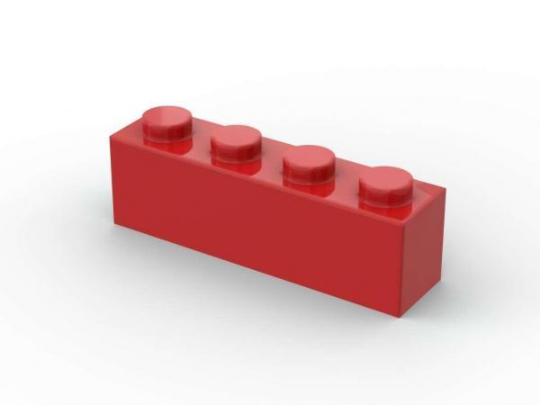 500 pcs 1x4 brick, Red