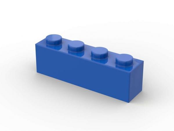 500 Stück, 1x4 Stein, Blau