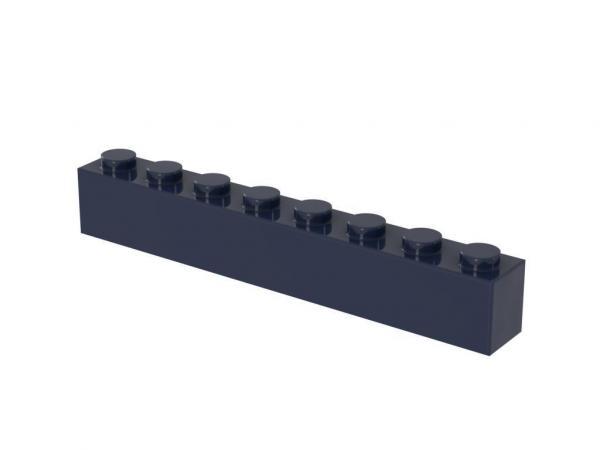 500 pcs 1x8 brick, Dark Blue