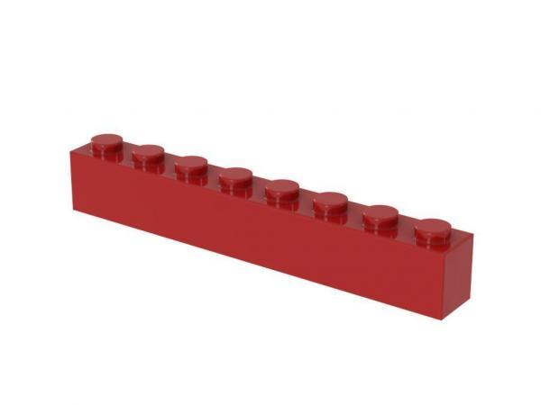 500 pcs 1x8 brick, Red