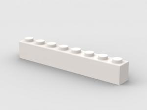 500 pcs 1x8 brick, White