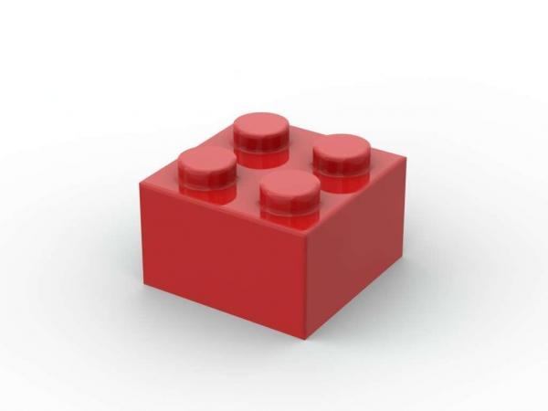500 pcs 2x2 brick, Red