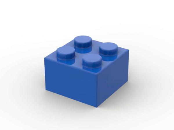 500 pcs 2x2 brick, Blue