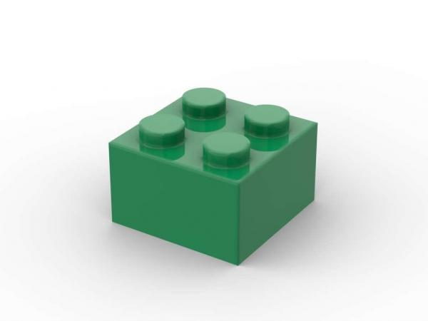 500 pcs 2x2 brick, Green