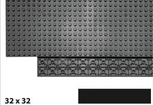 32x32 Plate, Black