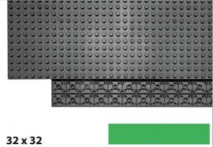 32x32 Plate, Green