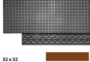 32x32 Plate, Reddish Brown