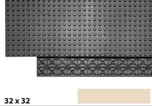 32x32 Plate, Tan