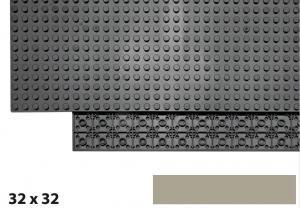 32x32 Plate, Dark Tan