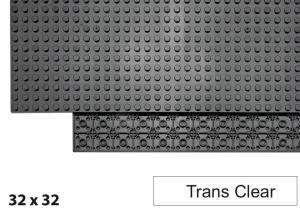 32x32 Plate, Trans Clear