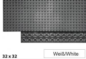 32x32 Plate, White