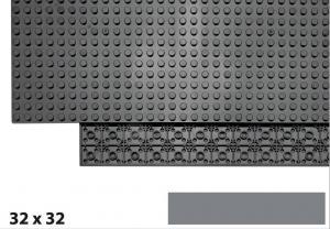 32x32 Plate, Dark Bluish Gray