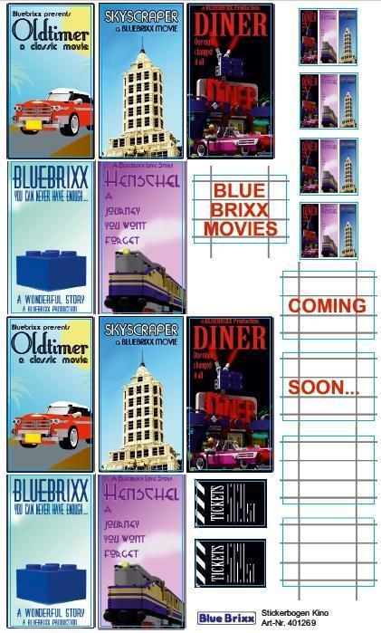 Sticker sheet Cinema