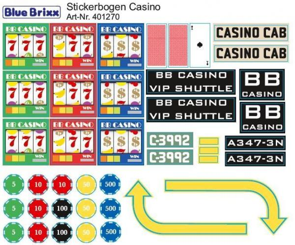 Sticker sheet Casino