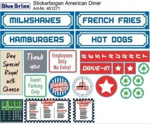 Stickerbogen American Diner