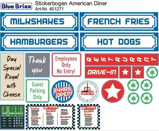 Sticker sheet American Diner