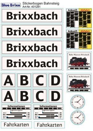 Sticker sheet Railway Platform
