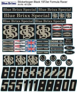 Stickerbogen für 1972er schwarzer Formel Racer