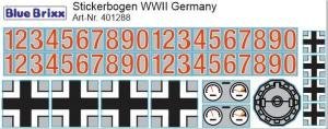 Stickerbogen WWII Germany