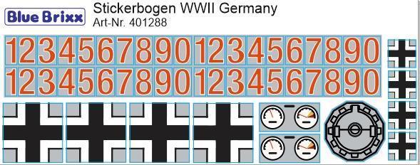 Sticker sheet WWII Germany