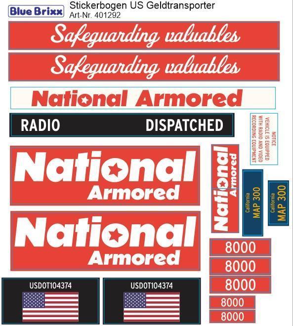Sticker sheet US Money Transporter