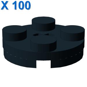 PLATE 2X2 ROUND X 100