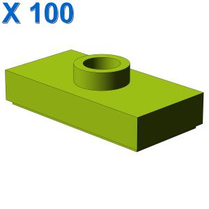 PLATE 1X2 W. 1 KNOB X 100