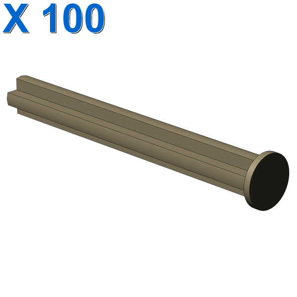 CROSS AXLE 5M WITH END STOP X 100