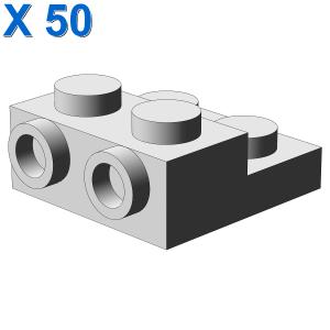 PLATE 2X2X2/3 W. 2. HOR. KNOB X 50