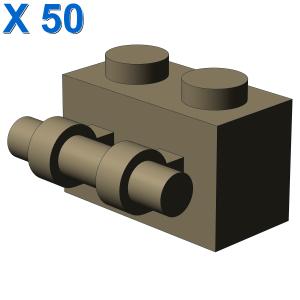 BRICK 1X2 WITH STICK X 50