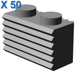 PROFILE BRICK 1X2 X 50