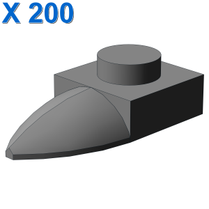 PLATE 1X1 W/TOOTH X 200