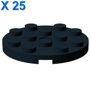 PLATE 4X4 ROUND W. SNAP X 25