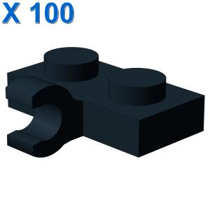 PLATE 1X2 W. 1 HORIZONTAL SNAP X 100